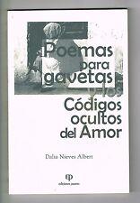 Dalia Nieves Albert Poemas Para Gavetas Codigos Del Amor Puerto Rico 1999 1st Ed