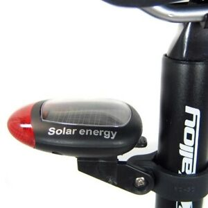 2-LED-Red-Bike-Bicycle-Solar-Energy-Rechargeable-Tail-Rear-Light-Flash-Light-RF