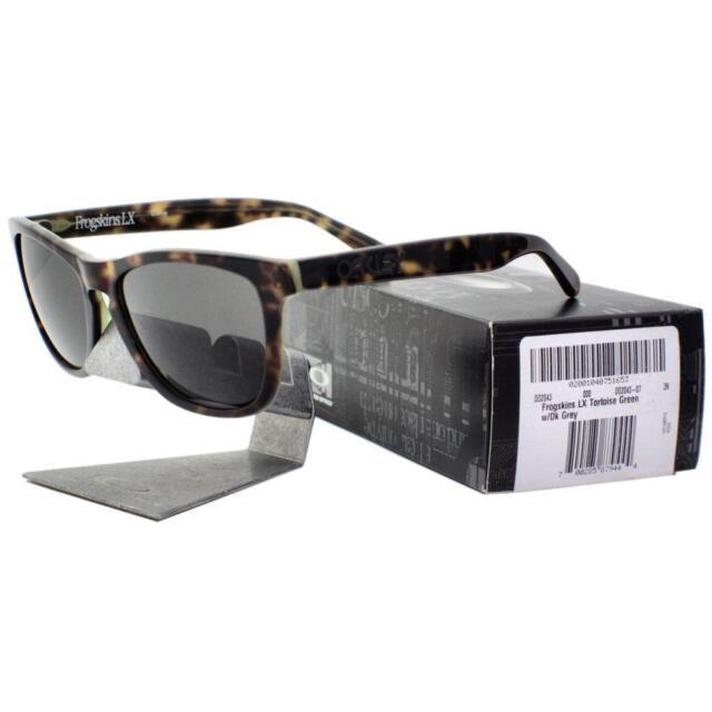 cd11159cb1e Oakley OO 2043-07 FROGSKINS LX Tortoise Green Dark Grey Mens Sports  Sunglasses