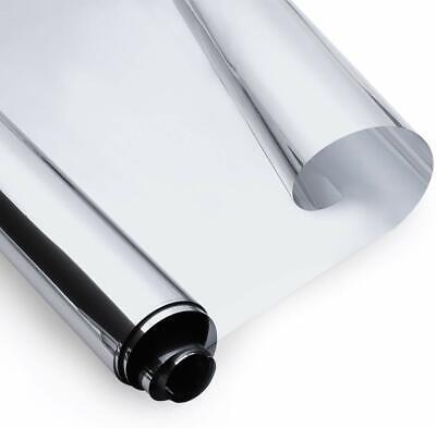 LTD 17.5 x 78.7 Silver 17.5 x 78.7 GLOBEGOU CO Rabbitgoo Window Film One Way Mirror Window Film Anti UV Privacy Window Tint Decorative Heat Control Glass Tint Solar Reflective Glass Film for Home and Office
