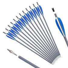 NEW 12pcs 125 grain Black Archery Arrow target point Broadhead DJT58
