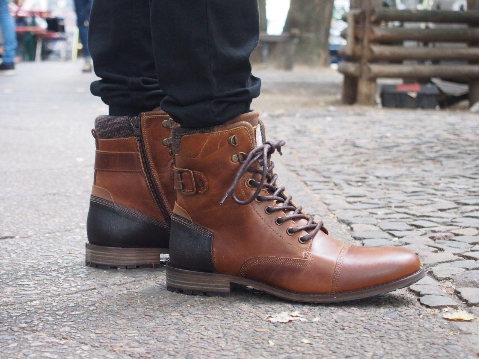 Bullboxer Schuh 46 braun braun Herrenschuh 799 braun Echtleder Stiefelette NEU