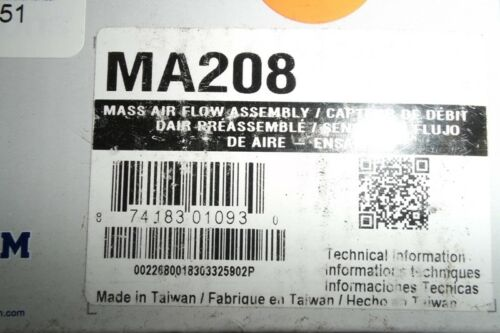 SPECTRA PREMIUM  MA208 AIR FLOW SENSOR