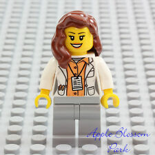 NEW Lego Female DOCTOR SCIENTIST MINIFIG -Hospital White Lab Coat Research Tech
