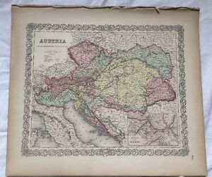 Austria vienna vicinity no 17 antique map 1855 colton world maps image is loading austria vienna vicinity no 17 antique map 1855 gumiabroncs Choice Image
