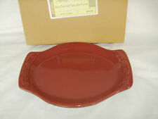 PAPRIKA RED Small Oval Platter Snack Plate Serve Baking Dish Longaberger