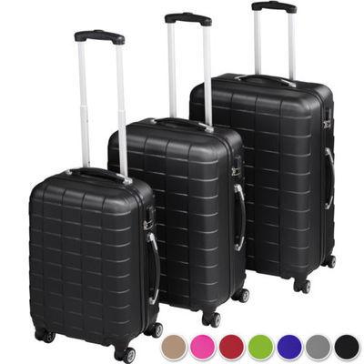 Set de 3 valises voyage coque ABS léger rigide bagages valise trolley 4 Roulette
