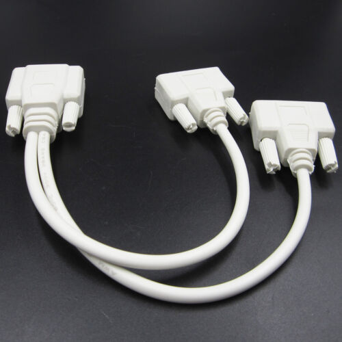 One Male to two Female VGA Extended Cable Projector Splitter Copper White V1.0