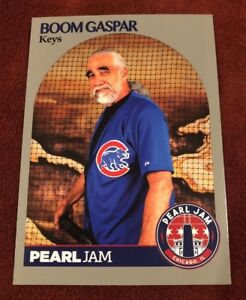 Details About Pearl Jam Chicago Baseball Card Boom Gaspar Bat Jersey 2018 Wrigley Away Shows