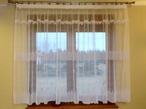 Dettagli su BELLA TENDA CONFEZIONATA voile TENDINA lb-100wb moderno di  finestra soggiorno