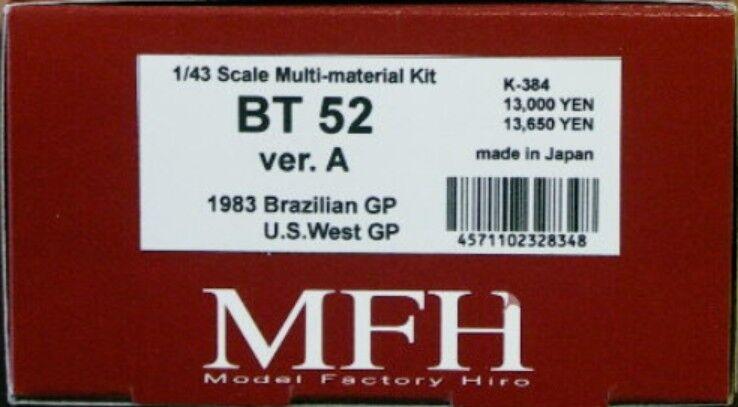 Model Factory Hiro 1/43 Bt52 1983 Ver.a Multi Materiale Kit K-384 da Giappone F