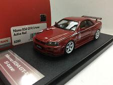 1:43 HPI 8380 NISSAN SKYLINE R34 GTR NISMO S TUNE RED resin scale model car