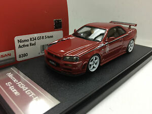 1:43 HPI 8380 NISSAN SKYLINE R34 GTR NISMO S TUNE RED resin scale ...