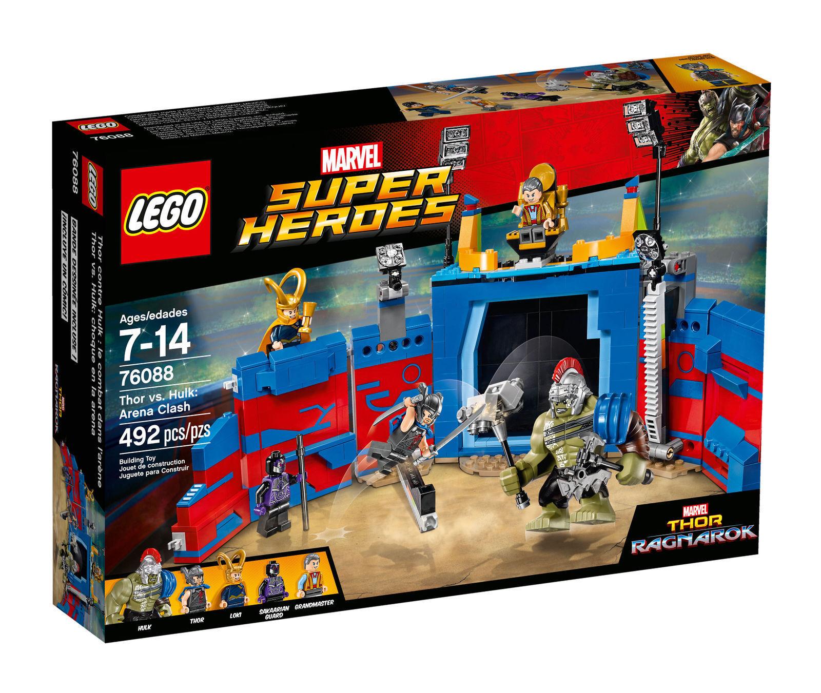 Nuovo LEGO Marvel Super Heroes Thor vs. Hulk Arena Clash 76088 - fast ship insurosso