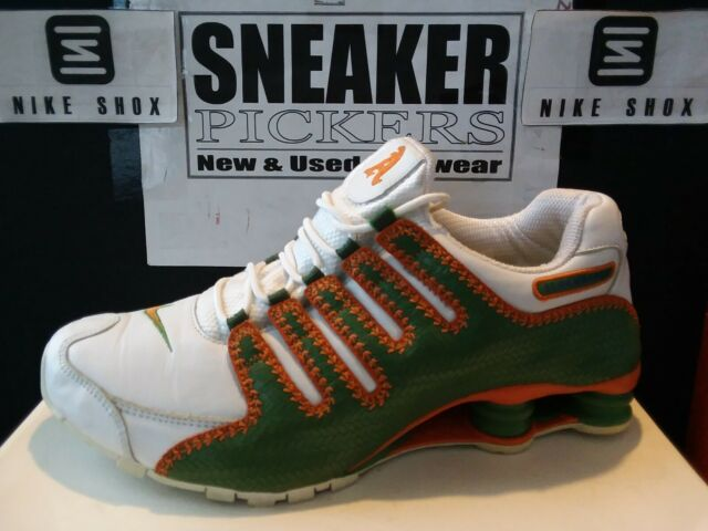 Nike Shox NZ UTT LE - 315798 381 - White / Green - Orange - Sz 11.5 - Almendares