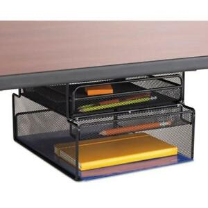 Safco 3244bl Onyx Hanging Organizer W Drawer Under Desk
