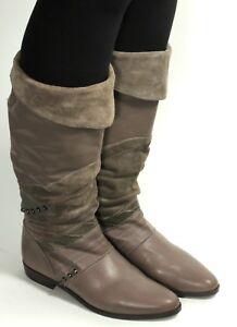 Damenstiefel Vintage Stiefel Blogger Krempelschaft Slouch Bronx Hipster Niete 37 Hell Und Durchscheinend Im Aussehen Vintage-schuhe Für Damen
