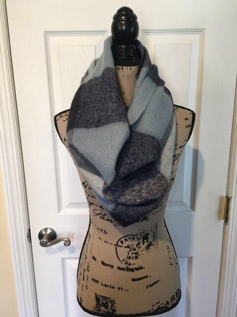 Ann Taylor Loft Blue Infinity Scarf Wrap Retail For Sale