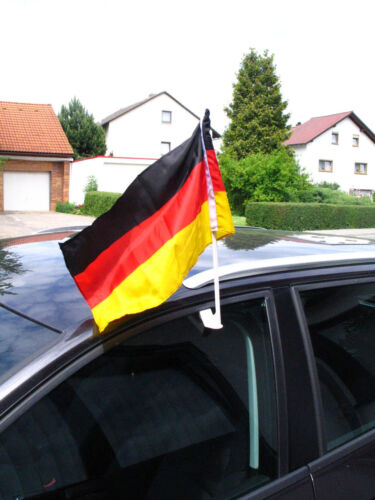 Deutschland Autofahne 40x25cm Fan Fahne Flagge Fußball