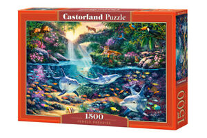 Puzzle-1500-pieces-Jungle-paradise-68x47cm-de-marque-Castorland
