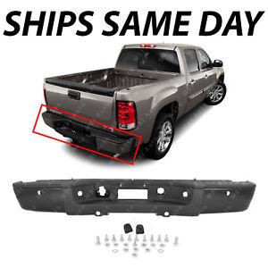 Details About Complete Steel Rear Bumper For 2007 2013 Chevy Silverado Gmc Sierra 1500 Truck