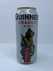 Guinness-Draught-Stout-Empty-Bear-Special-Edition-Collectible-Beer-Can-Top-Open
