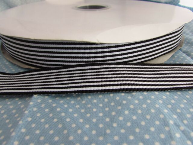 10m /& 20m 25mm /& 15mm Cream Grosgrain Ribbon 1m 5m