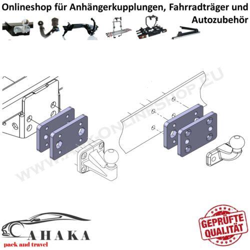 Universelle Adapterplatte für Anhängerbock von 2 Loch 90mm auf 4 Loch 83x56mm