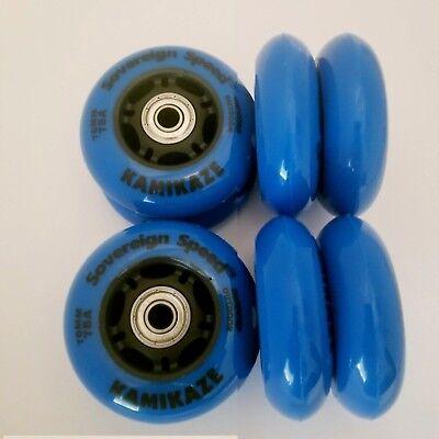 8 72mm Youth OUTDOOR Inline Skate Wheels w Bearings rollerblade roller hockey