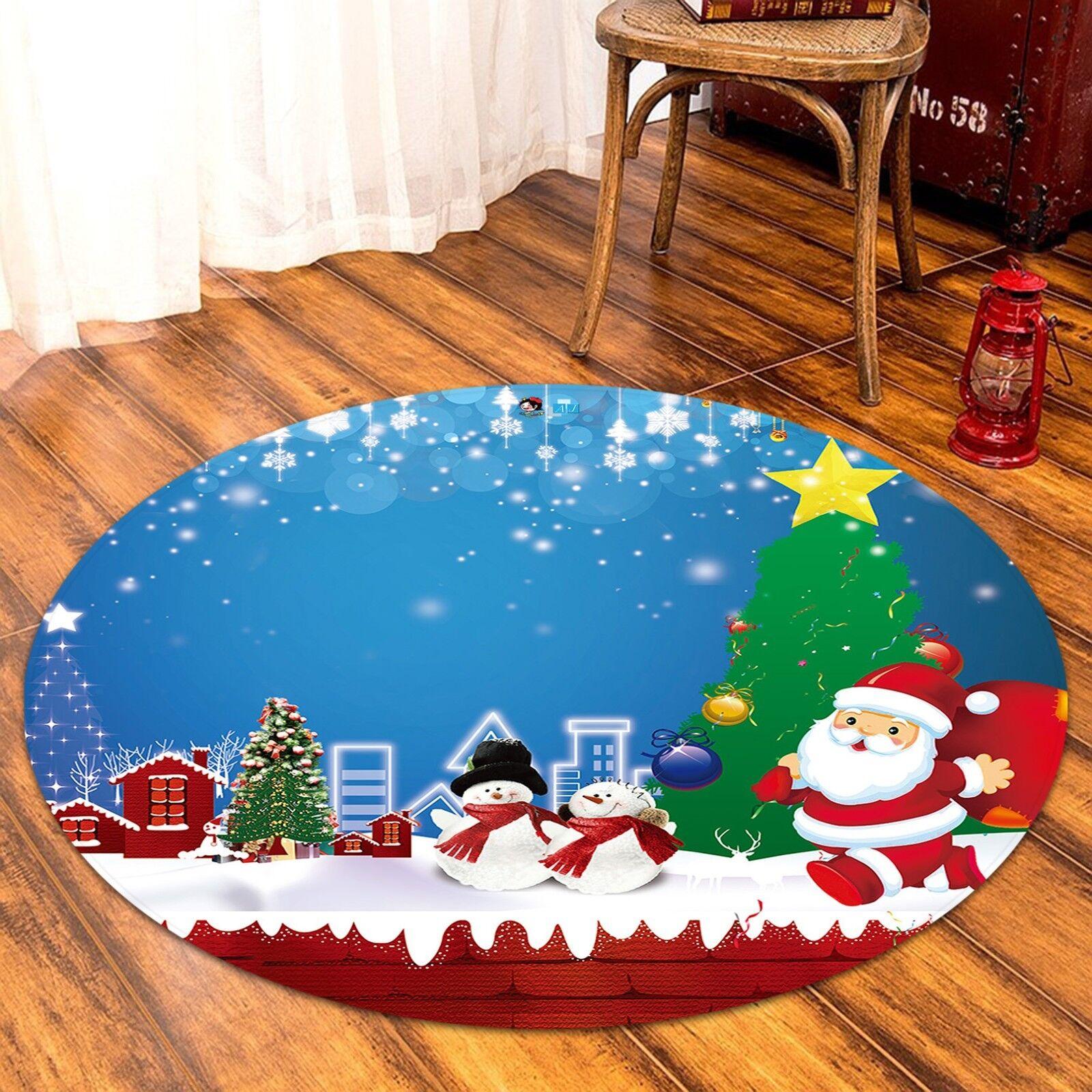 3D Christmas  Xmas 463 Non Slip Rug Mat Room Mat Round Elegant Photo Carpet AU