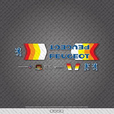 Set 5 Peugeot Vitesses 12 Speeds Fahrrad Abziehbilder Aufklebe Transfers