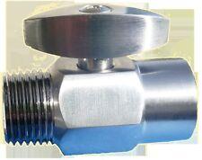 Full Shut-Off Shower Valve - Brushed Nickel Finish - Stops Water Flow