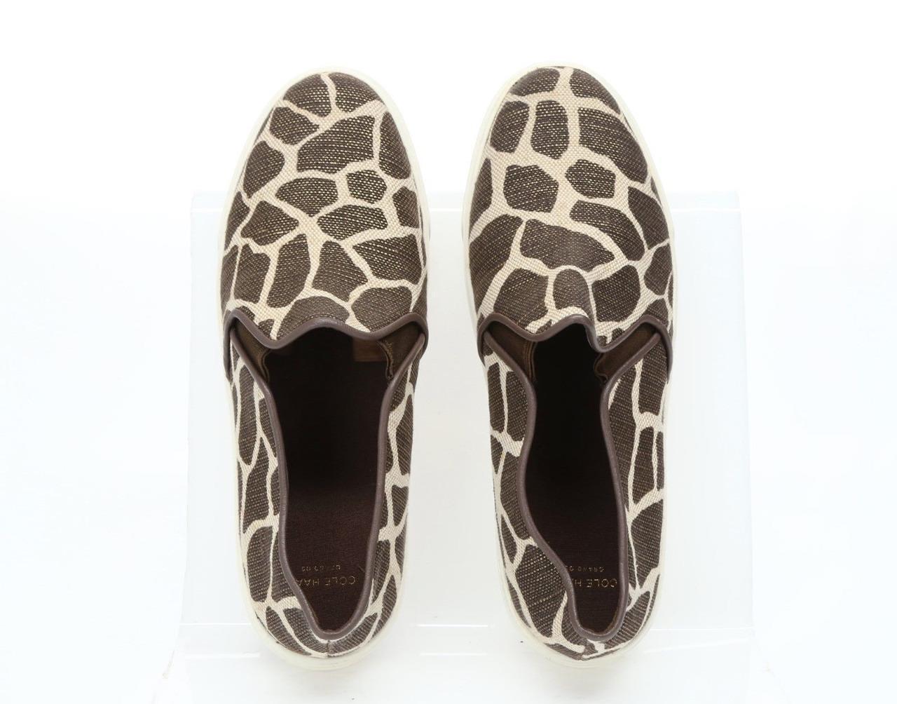 Cole Haan Jennica Jirafa Brillo Lona Resbalón en en en Zapatos de Mujer Talla 5 M  nuevo  c33dd1