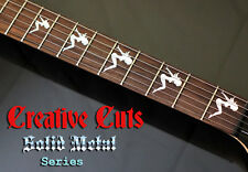 Sharkfin Guitar Fret Markers Inlays Stickers Decals Custom Chrome - Guitar custom vinyl stickers