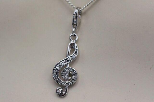 Colgante de clave de NKlaus Clave de sol de plata esterlina 925 Clave de sol de 15mm M/úsica 9115