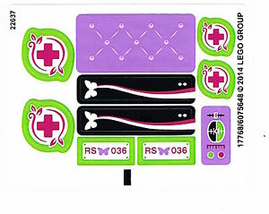 LEGO 41036 Sticker Sheet for Lego Friends Jungle Bridge Rescue NEW Decals