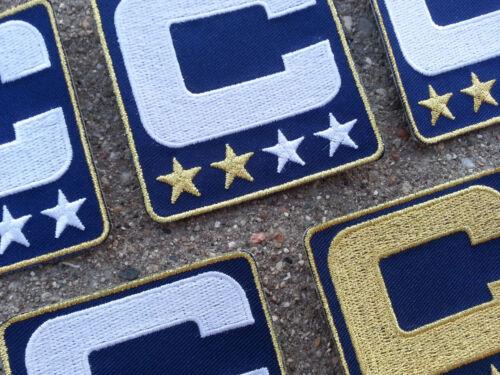 NAVY BLUE Captain C Patch for Jersey Football Baseball Soccer Hockey Lacrosse