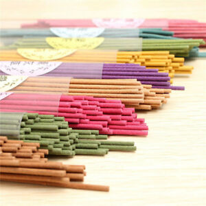 50-Sticks-Incense-Burner-Natural-Aroma-Vanilla-Sandalwood-Rose-Air-Freshener-Hot