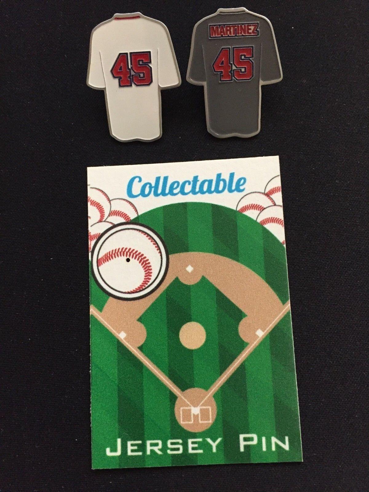 Boston rot Sox Pedro Martinez Reversnadel Reversnadel Reversnadel Set- (2) -collectable Rot Sox Nation 4c0b83