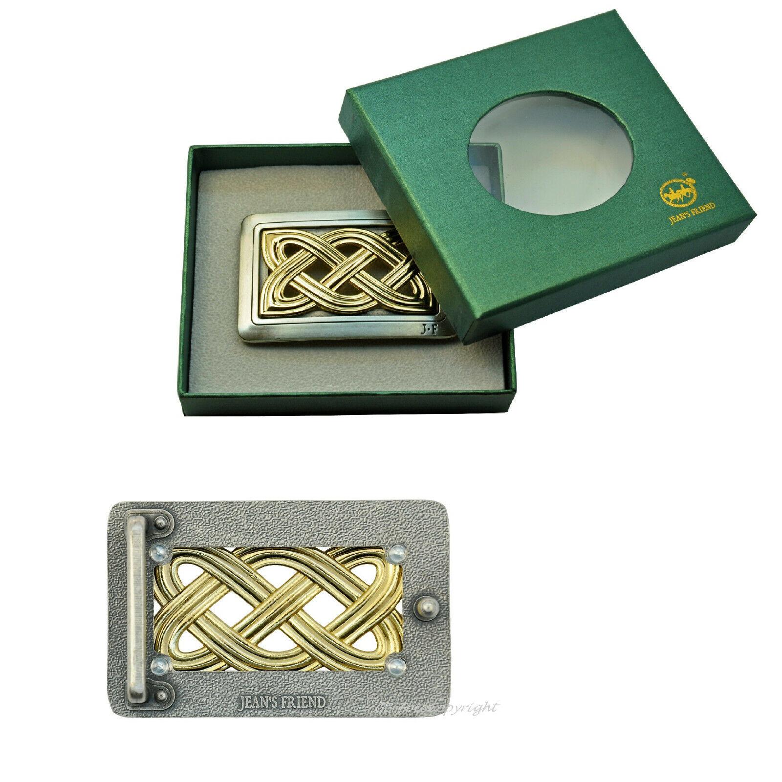 Buckle Ornament Mittelalter Knoten Design Gürtelschnalle in Geschenkbox *635
