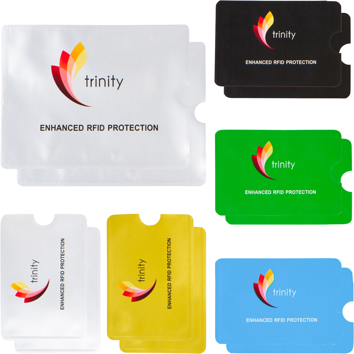 RFID High Level Blocking Sleeves (10 Credit Card & 2 Passport) Ant... - s l1600