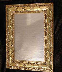 Dettagli su Specchio da Parete Oro Grande Antico Frisieur Flurpiegel  Barocco Jugenstil Bagno
