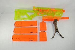 Nerf Longstrike Cs 6 Sonic Clear Green Sniper Rifle 5