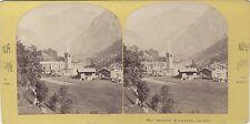 Alagna Valsesia Italie Italia Lamy Stéréo Vintage albumine ca 1865