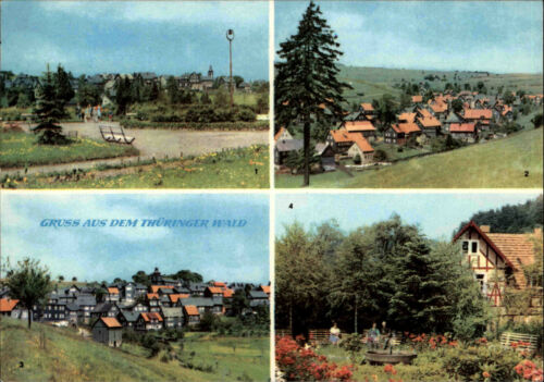 Thüringen Thüringer Wald DDR Mehrbild-AK Masserberg Heubach Schnett Fehrenbach