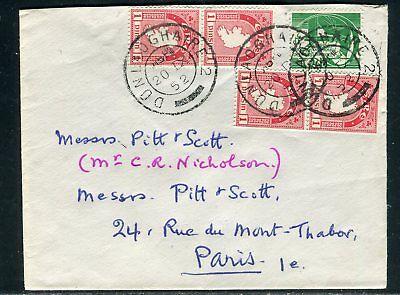Irlande - Enveloppe , Oblitération De Dunlaoghaire Pour Paris En 1952 - Ref D269 Uitstekende (In) Kwaliteit