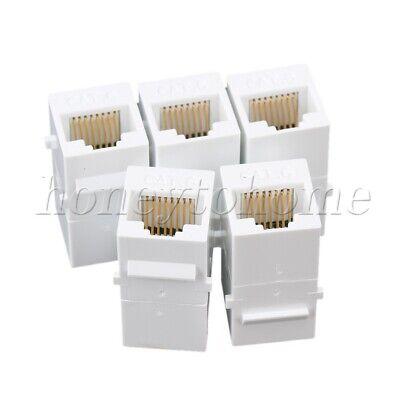 5pcs CAT6 RJ45 Keystone Inline Coupler Extender Adapter Wall Plate Patch Panel