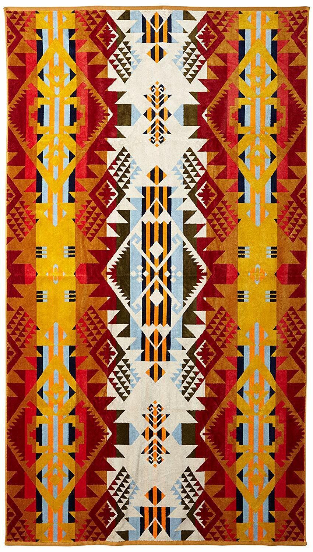 PENDLETON 'Journey West' Luxury Designer Beach   Spa Towel Gold 70  x 40  NWT