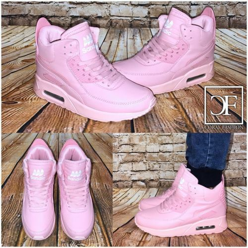 Coole Highcut AIR Sportschuhe Sneakers ROSA