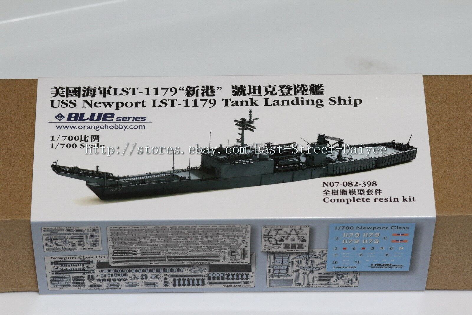 orange Hobby 1 700 082 USS Newport class LST-1179 tank landing ship Resin
